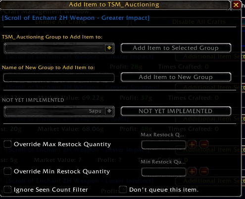 Auction House] TradeSkillMaster Guide - Must have Auctioneering Addon