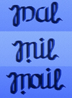 Escalera ambigramática