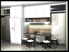 1a projetos Cozinha porta aluminio vidro gavetas linda adega