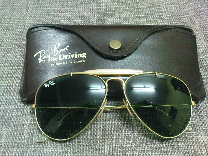 45521a85125 Ray Ban For Driving Bausch Lomb. RAY BAN BAUSCH AND LOMB AVIATOR LEATHERS  DRIVING B-15 TOP MIRROR OUTDOORSMAN II -