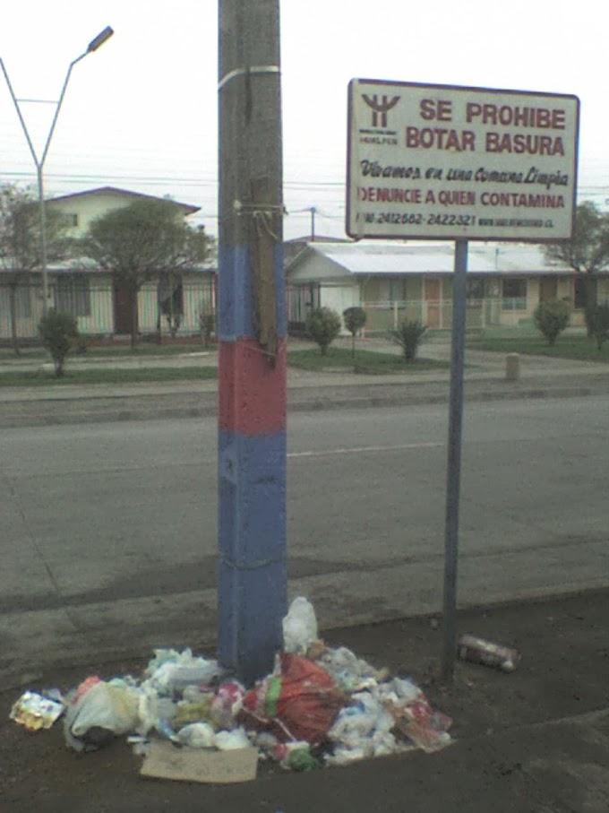 117. Se prohíbe botar basura