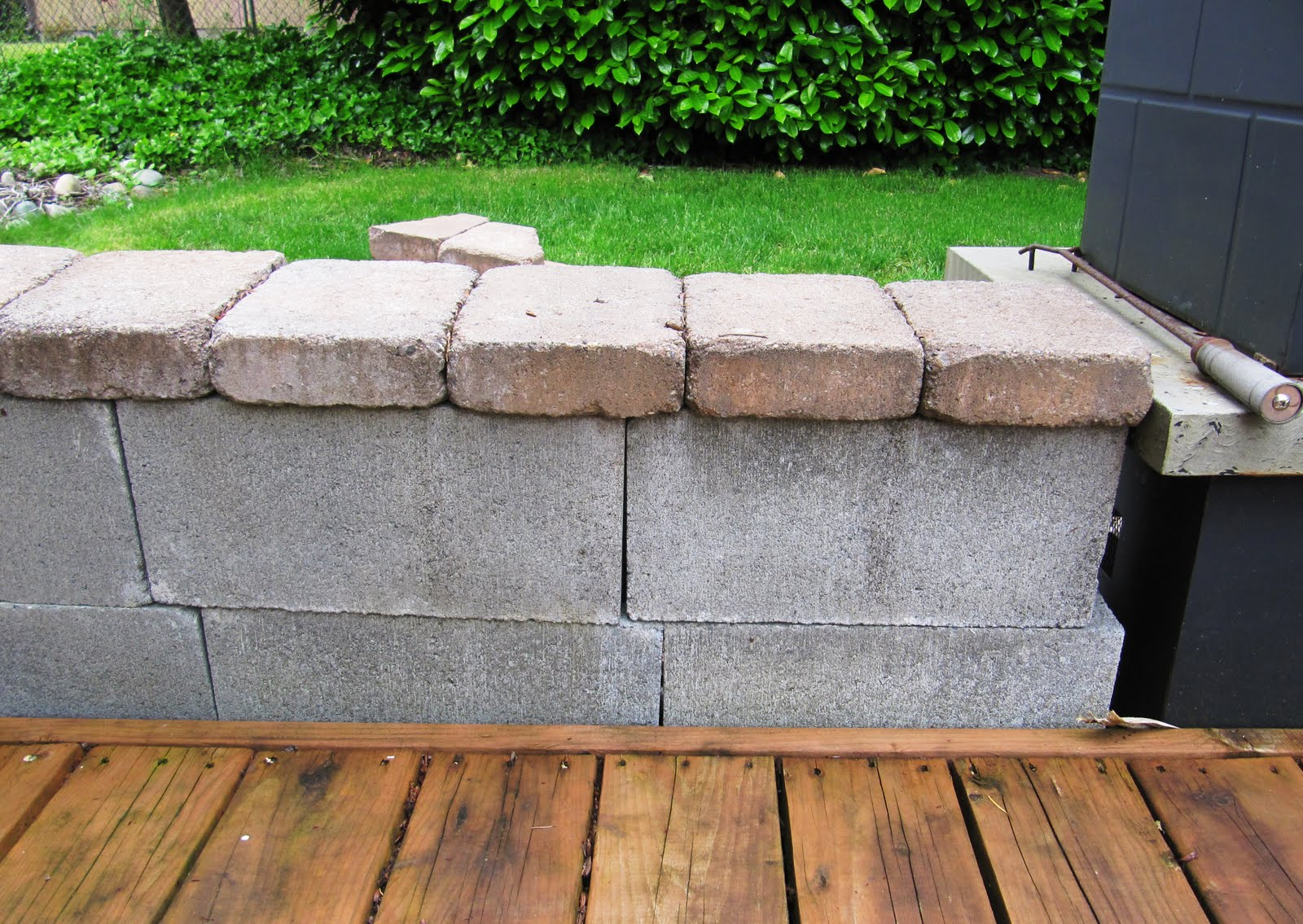 remodelaholic beautifying concrete block guest. Black Bedroom Furniture Sets. Home Design Ideas