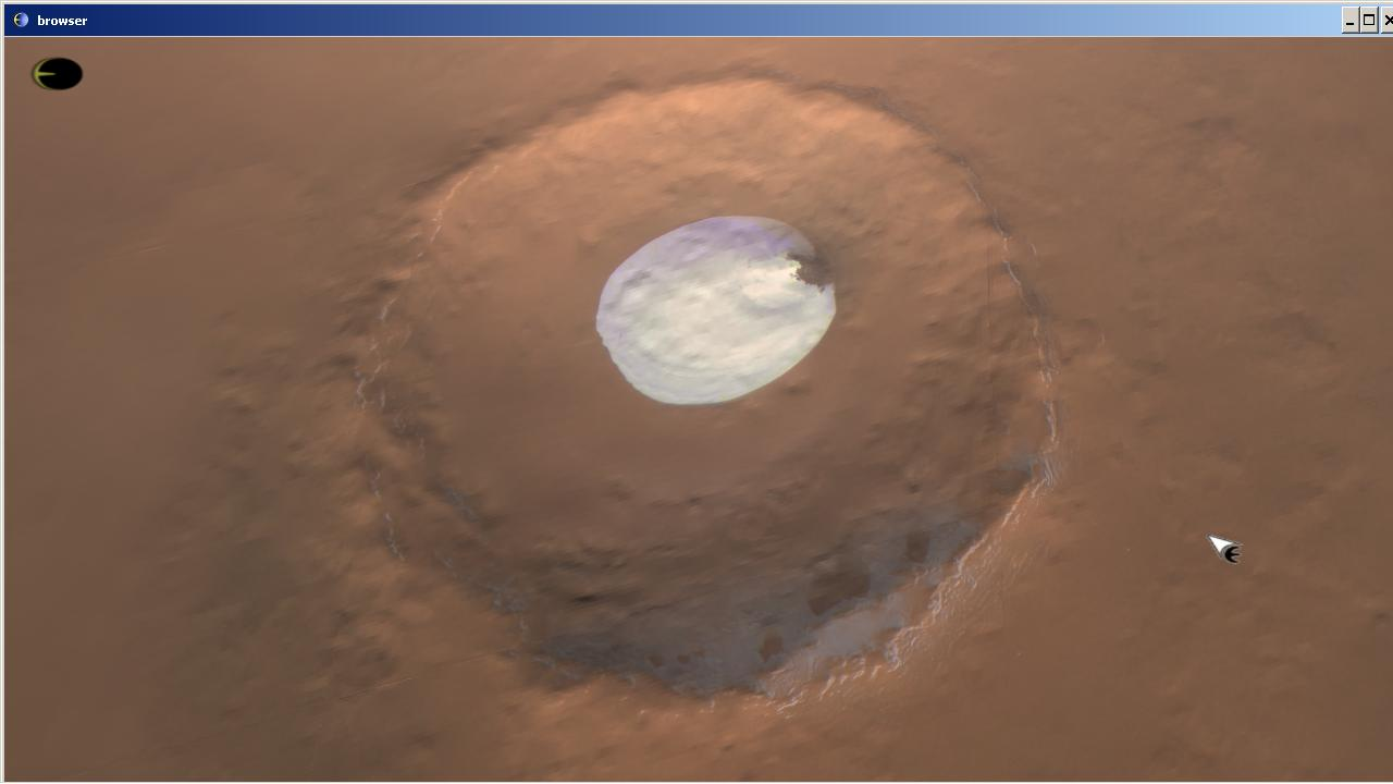 Earthsim: Close up Mars craters