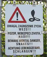 Beware of Snakes, put yours back in your trousers