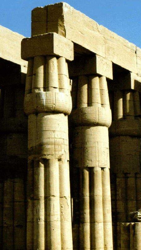 HISTORIA DEL ARTE Columnas y capiteles egipcios