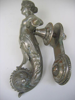 Mermaid Door Knocker 1880u0027s   1890u0027s. Nickel   Sold