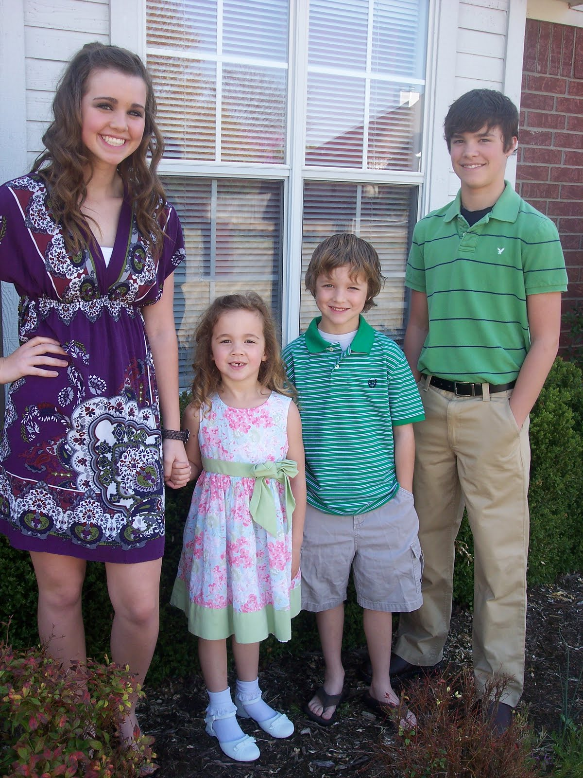 Two Boys Two Girls Easter