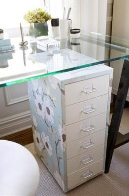 How can i make our metal filing cabinet pretty?  thenest