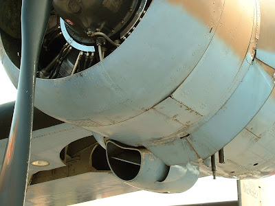 Picture showing the underside of a B-24A nacelle