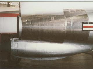 XF-91 Thunderceptor rocket motor detail photo