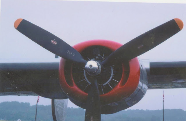 B-24J engine, frontal view photo