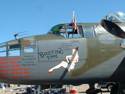 B-25 nose art photo