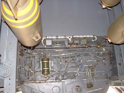 Interior of B-25 bomb bay