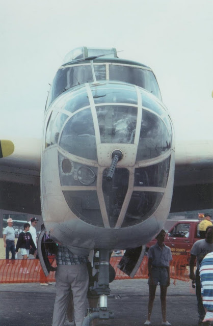 B-25 glass nose frontal view photo