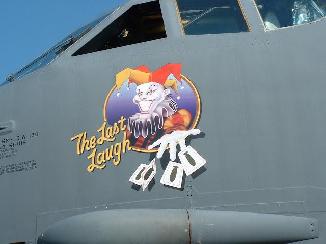 B-52H 61-015 Last Laugh nose art photo