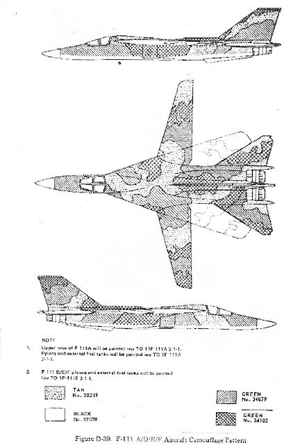 F-111 camo drawing 3-view