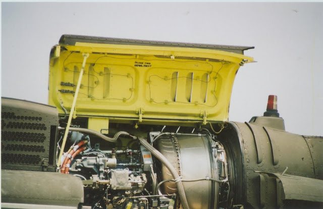 UH-1 Huey engine compartment photo