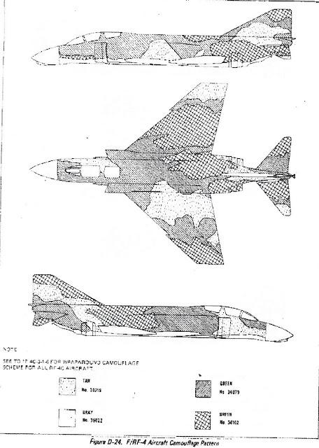 F-4 Phantom camouflage diagram