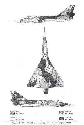 F-106 Delta Dart 3-view