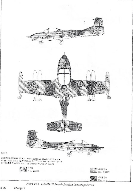 A-37B Dragonfly 3-view diagram