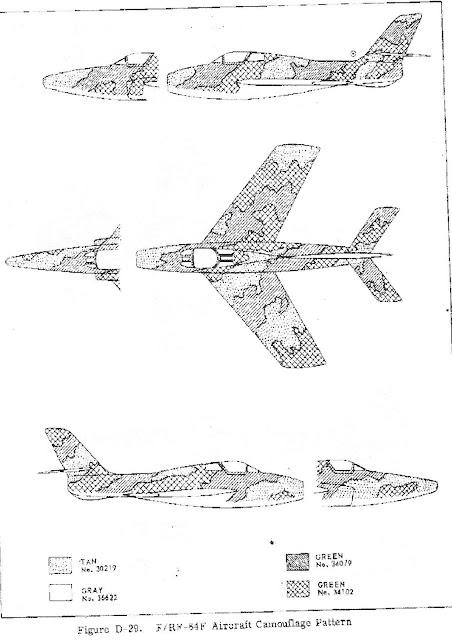 Republic F-84F 3-view camouflage diagram