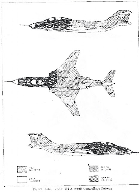 McDonnell F-101 Voodoo 3-view