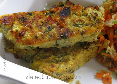 Cous-cous Loaf, Sliced and Pan-fried vegetarian Mediterranean fusion
