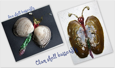 kids craft beach summer sea shells crafts collages