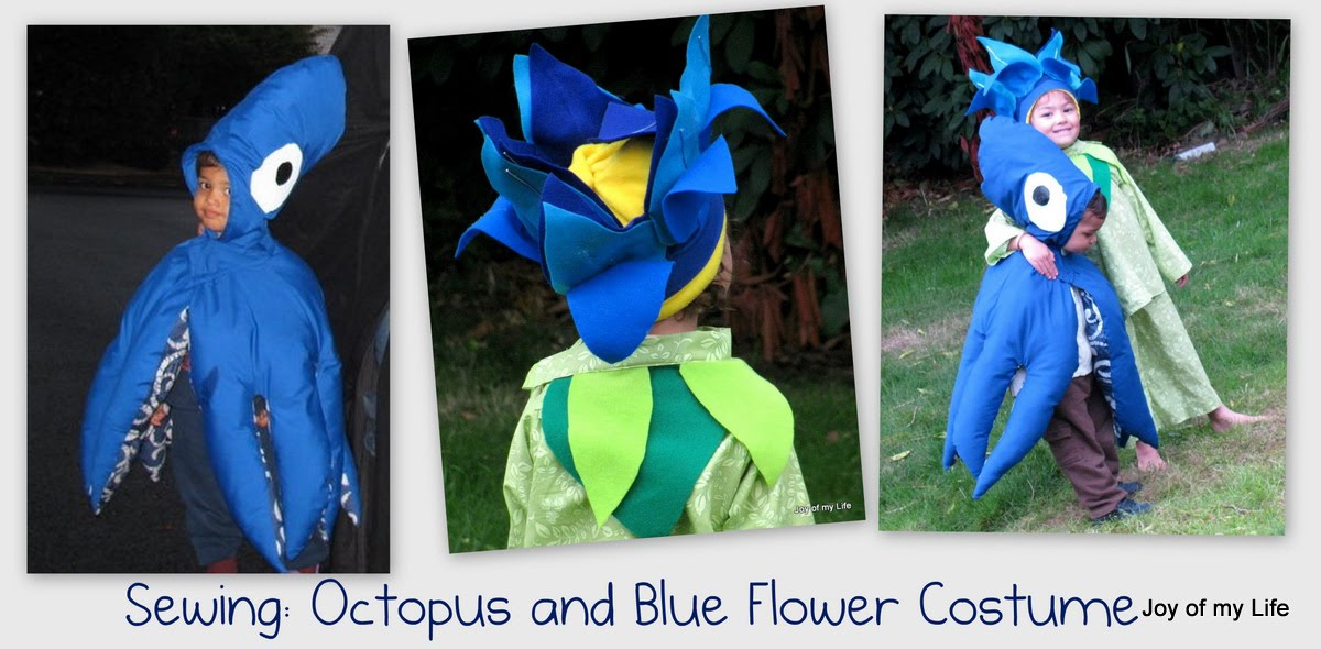 Sewing Kids Costumes Octopus and Blue Flower  sc 1 st  RarelyThere Books Crafts Arts and Life & RarelyThere: Books Crafts Arts and Life