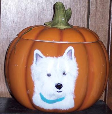 Dogs Painted Like Pumpkins