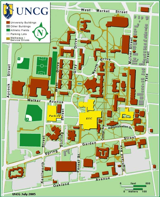 Uncg Campus Map Katie's Design Blog: Blog Post 3: 10 Principle Ideas on UNCG Campus Uncg Campus Map