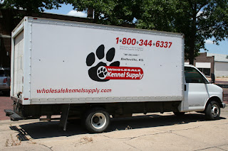 The logo for Wholesale Kennel Supply that I created while interning for Lambriar