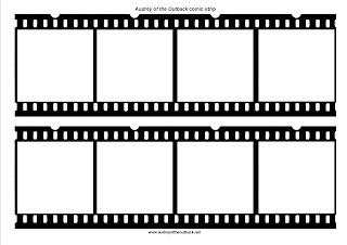 blank comic strip frames