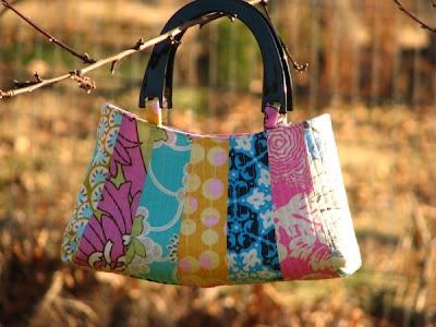 德累斯顿花瓣手提包|聪明的缝纫工程到upcycle织物废料