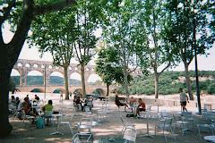 Pont du Gard in the distance