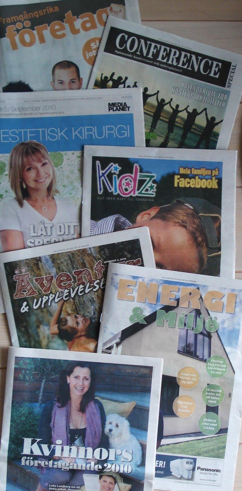 I det här fallet ur mitt husorgan Sydsvenskan. Annonsbilagor om allt  möjligt  hälsa 8709c52ce8e1d