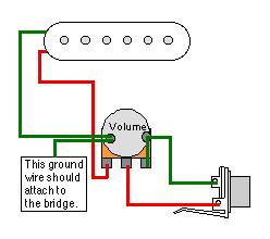 Totalrojo Guitars Wiring Diagram For 1 Pickup 1 Volume Pot