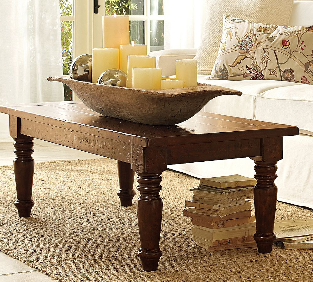 Pottery Barn Wood Table: Pottery Barn Inspired Tables Reveal