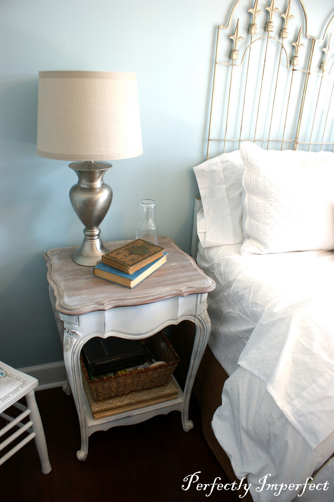 Guest Bedroom End Table Makeover Perfectly Imperfect Blog