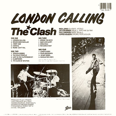 Covers Amp Lovers 1979 Lp The Clash Quot London Calling Quot