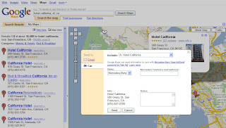 Google Lat Long: Mercedes-Benz Search & Send uses Google Maps