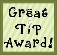 "Great Tip Award               ""Menu Planning"""