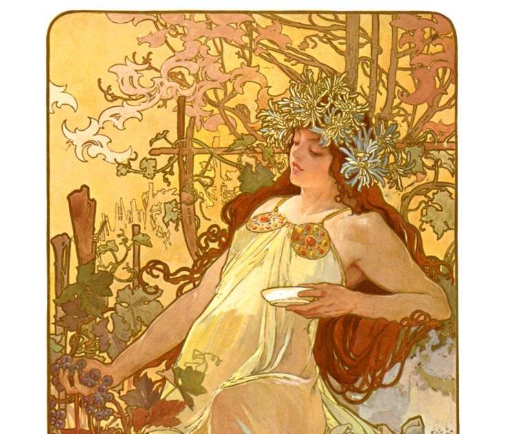 Rebecca Noble ~ The Fall: Alphonse Mucha~ Artists