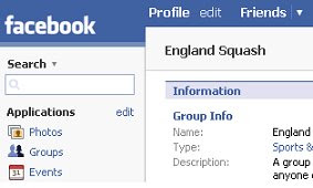 The England Squas group on Facebook