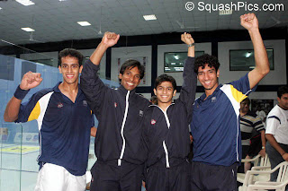 The Indian team at the Men's World Team Championships 2007