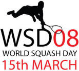 World Squash Day 2008 logo