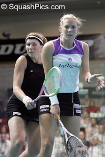 Laura Lengthorn-Massaro holds off Natalie Granger in the 2005 British Open