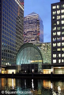 The East Wintergarden venue at Canary Wharf