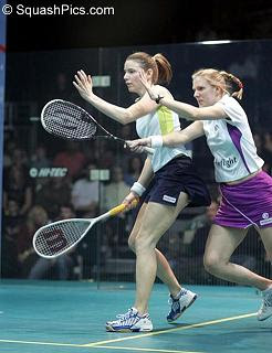 England's Vicky Botwright and Laura Lengthorn