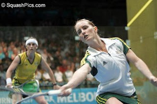 Rachel and Natalie Grinham battle it out in the 2006 Commonwealth Games final